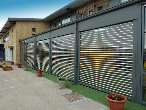 Transparent Rolling Doors With Polycarbonate Slat